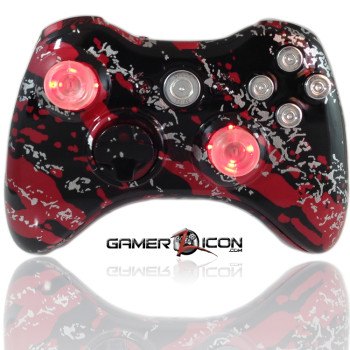 Xbox 360 Savage Red Raptorfire Chrome
