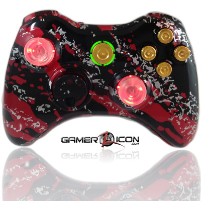 Xbox 360 Savage Red Raptorfire Gold Bullet Edition