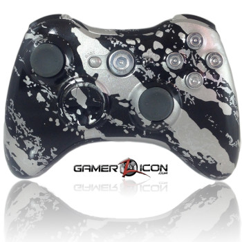 Xbox 360 Savage Silver Chrome Bullet Button Edition