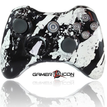 Xbox 360 Savage White Chrome Bullet Edition