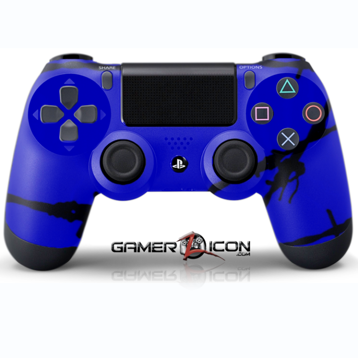 PS4 Blue Barbwire Controller
