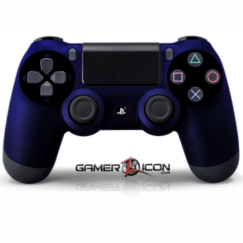PS4 Blue Carbon Fiber Controller