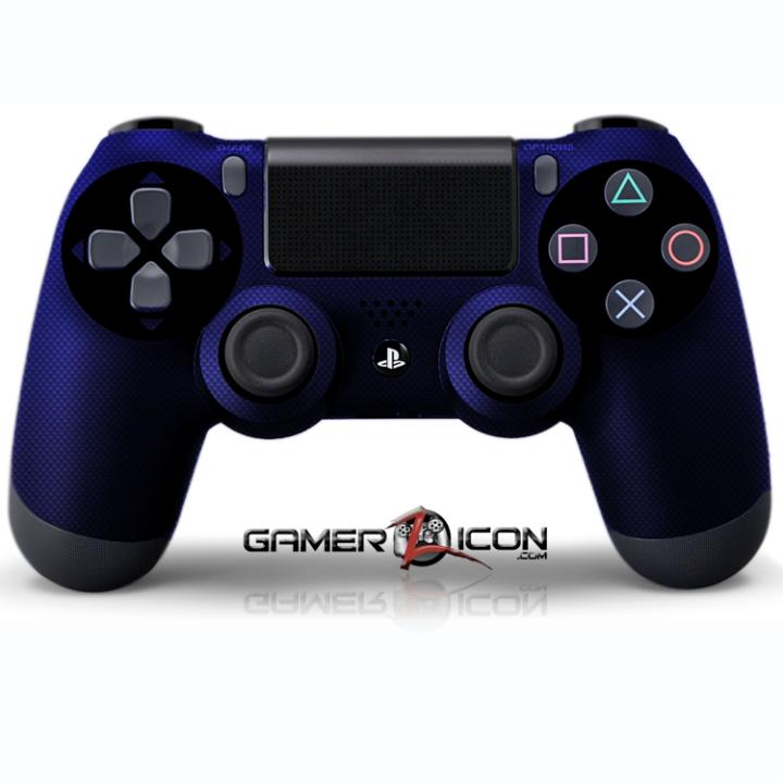 PS4 Blue Carbon Fiber Controller