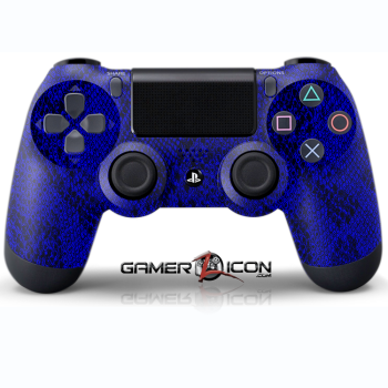 PS4 Blue Snakeskin Controller