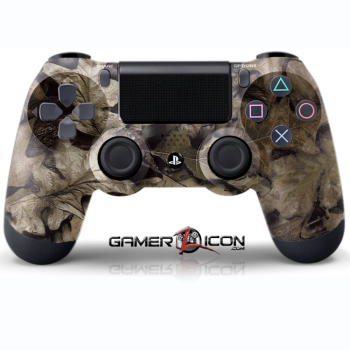 PS4 Brown leaf Camo Controller