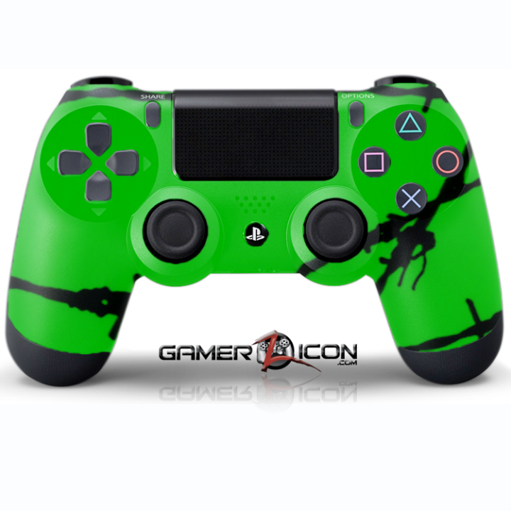 PS4 Green Barbwire Controller