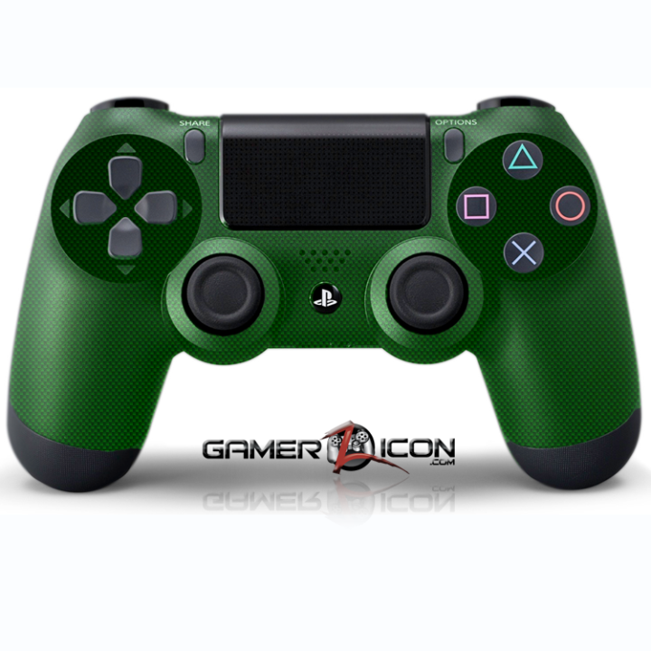 PS4 Green Carbon Fiber Controller