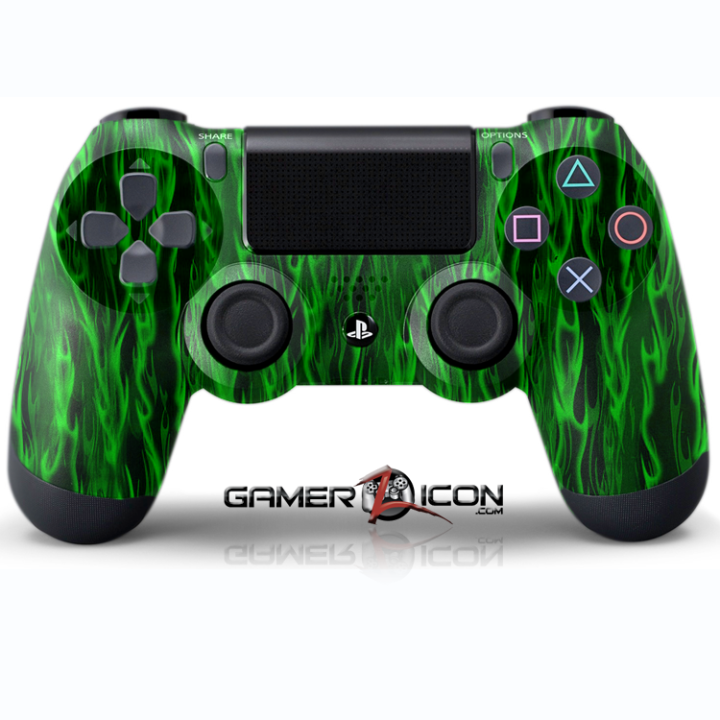 PS4 Green Flames Controller