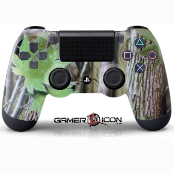 PS4 Green Leaf Camo Controller