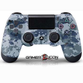 PS4 Navy Digital Camo Controller