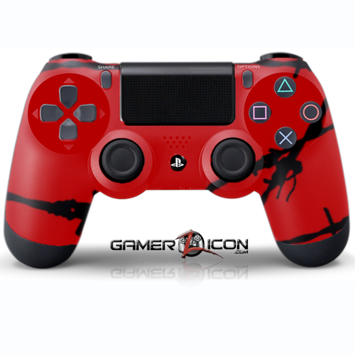 PS4 Red Barbwire Controller