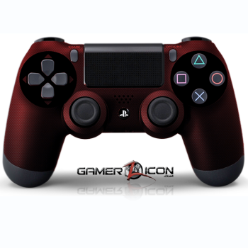 PS4 Red Carbon Fiber Controller
