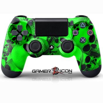 PS4 Skull Green Controller