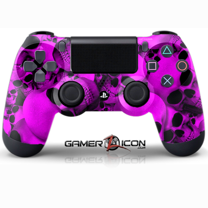 PS4 Skull Purple Controller