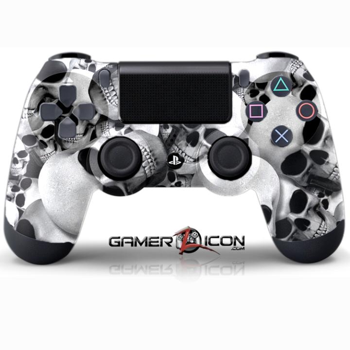 PS4 Skull White Controller