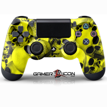 PS4 Skull Yellow Controller