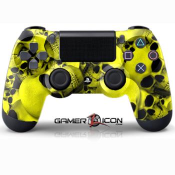 PS4 Skull Yellow Controller
