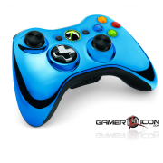 Xbox 360 Blue Chrome Controller