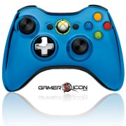 Xbox 360 Blue Chrome Wireless Controller