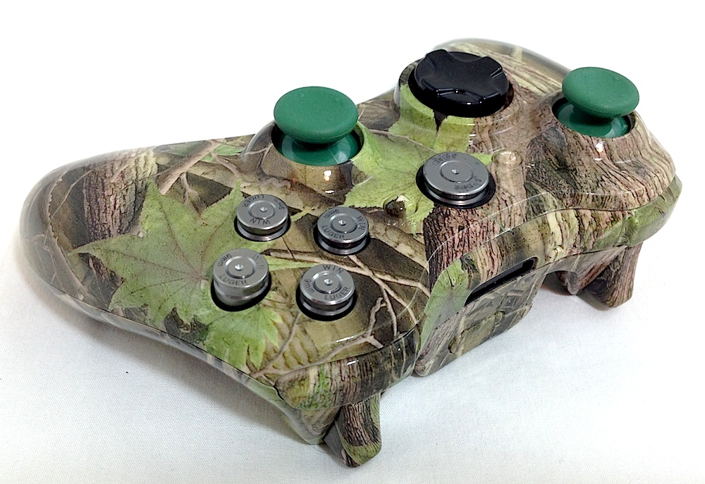 Xbox 360 Custom Green Leaf Camo
