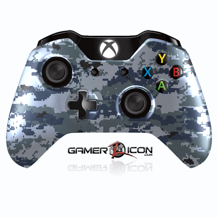 Xbox One Navy Digital Camo Controller