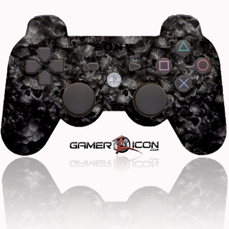 PS3 Modded Controller Dark Skull