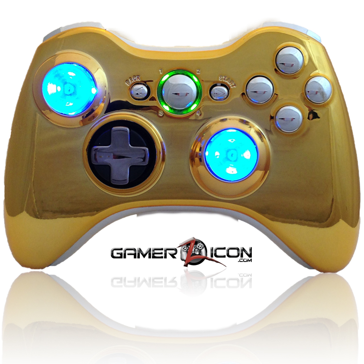 gold chrome xbox 360 controller gold free engine image