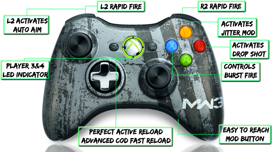 Xbox 360 Modded Controller Mw3 Gamerzicon Com Your Leader For